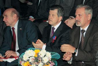 Губернатор Ярославской области Сергей Вахруков (в центре) на открытии Кубка губернатора по самбо