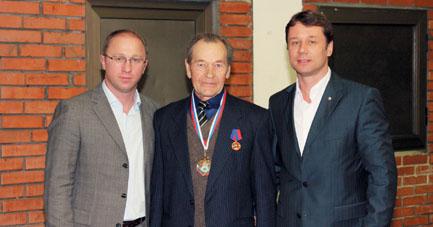 Мириан Гугава, Александр Алексашкин и Сергей Феоктистов